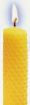 Elegant beeswax taper candles